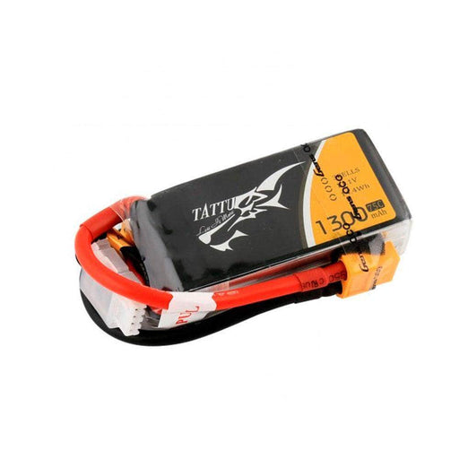 Tattu 11.1V 3S 1300mAh 75C LiPo FPV Battery - XT60