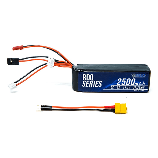 RDQ Series 11.1V 3S 2500mAh 5C LiPo Battery for Taranis X9D w/ XT60 Adapter