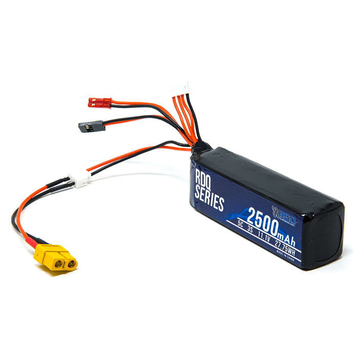 RDQ Series 11.1V 3S 2500mAh 5C LiPo Battery for Taranis X9D w/ XT60 Adapter - RaceDayQuads