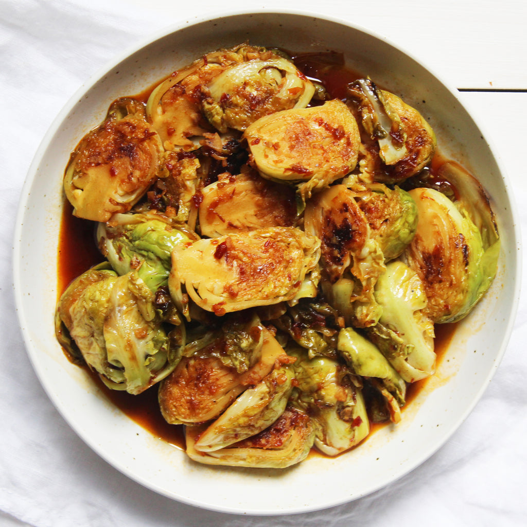 Spicy Thai Brussels Sprouts