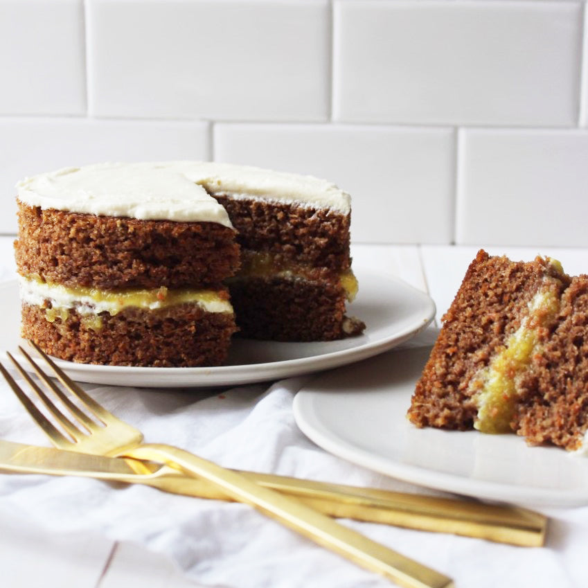 Pineapple Carrot Cake with Goat Cheese Frosting