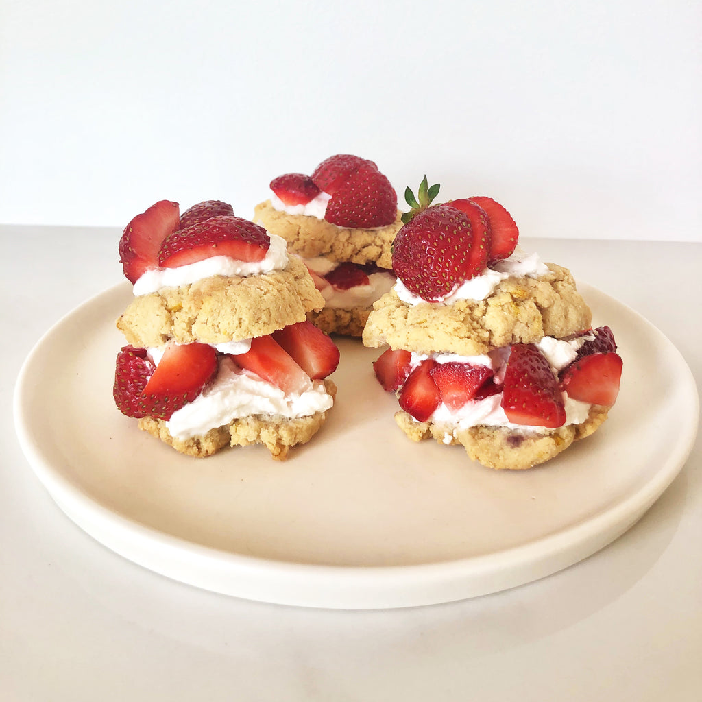 Mini Paleo Strawberry Shortcakes (Low Sugar)