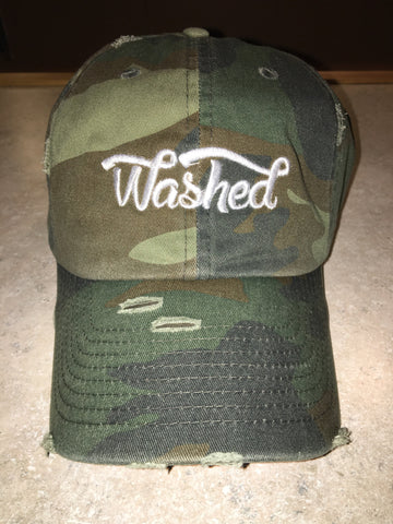 """Washed"" Camo Dad Hat"