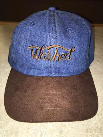 """Washed"" Denim Suede Dad Hat"