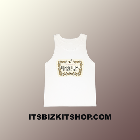 """Hennything Is Possible"" White Tank Top"
