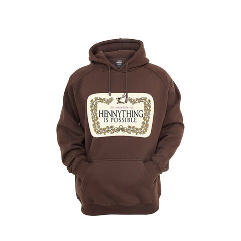 'Hennything Is Possible' Brown Hoodie