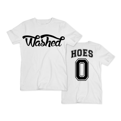 "White ""0 Hoes"" tee"