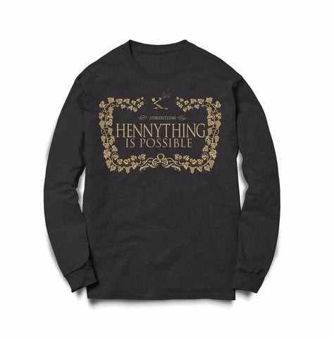 Long Sleeve Hennything Is Possible Black