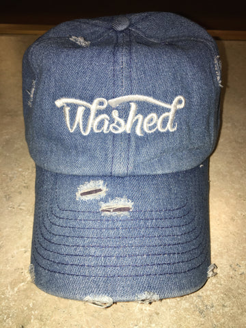 """Washed"" Denim Dad Hat"