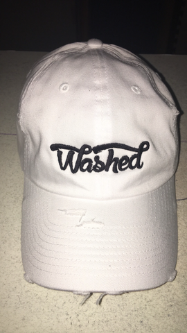 """Washed"" Dad Hat White"