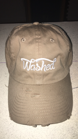 """Washed"" Dad Hat Tan"