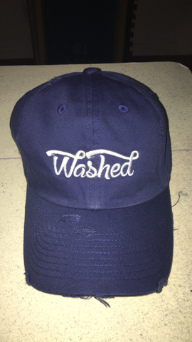 """Washed"" Dad Hat Navy"