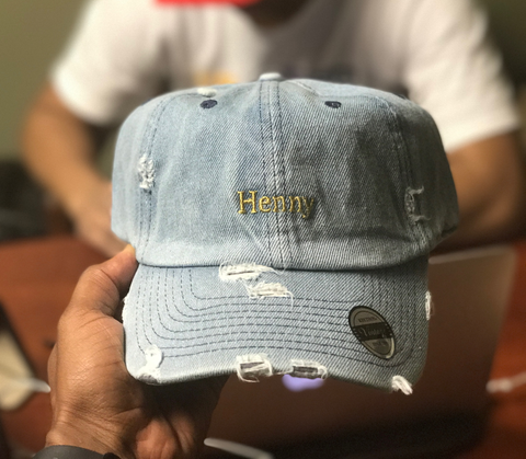 Henny Dad Hat Light Denim