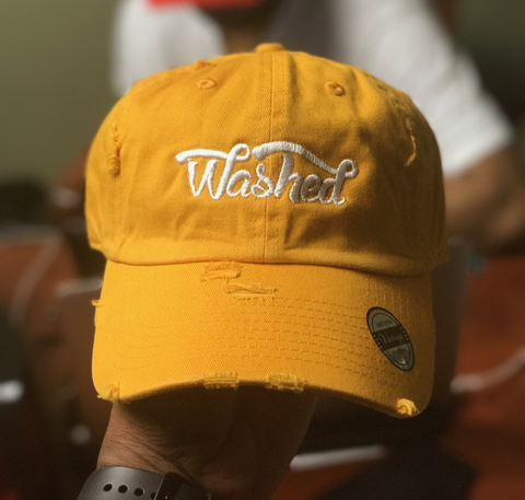 """Washed"" Dad Hat Yellow"