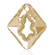29 - AAA Grade Swarovski Crystal Chunk on Gold Plated Chain