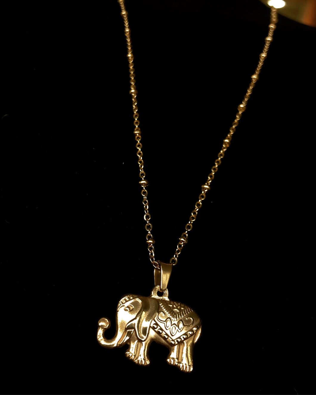 16(d) - Lucky Elephant Necklace (Elephants bring good luck and strength)