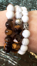 99(l) - Rare Faceted Tigers Eye + Howlite