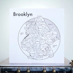 Brooklyn 17.5 x 17.5 black/white