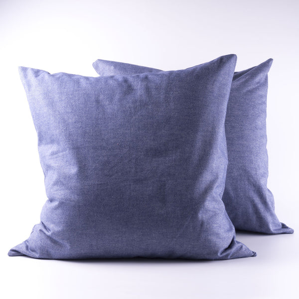 Slate Blue Flannel Cushion Covers