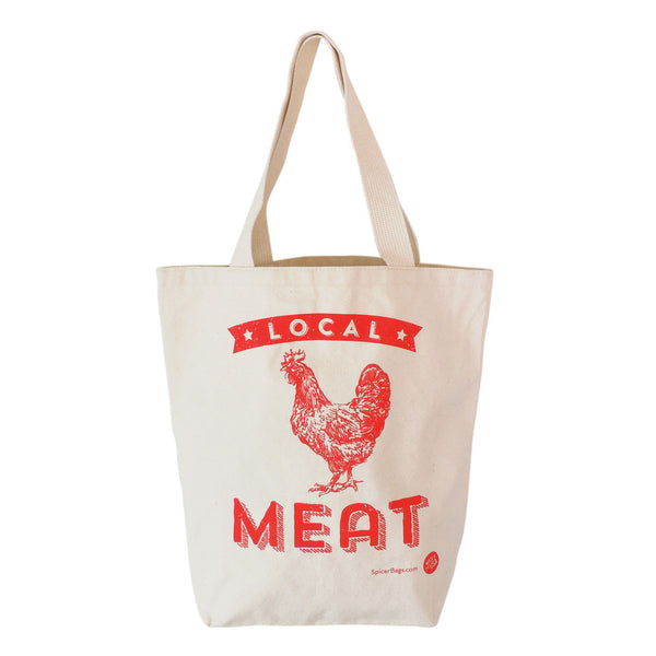 Local Meat Grocery Tote