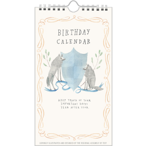 Birthday Calendar (Crests)