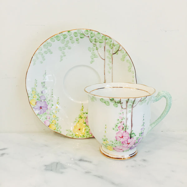 Vintage Royal Standard English Garden Teacup & Saucer