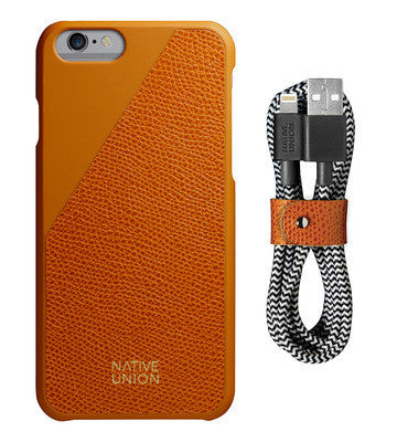 CLIC Leather iPhone 6 / 6S Case & Cable Set