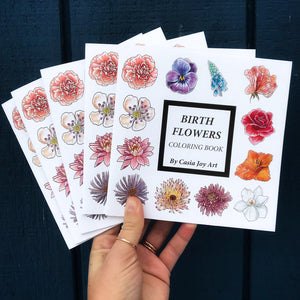 ~ Birth Flower Coloring Book ~