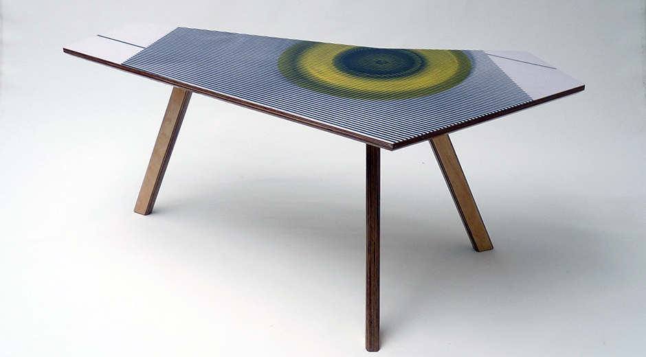 Kidney Table Yellow Circle | Neunoy - We Are Makers