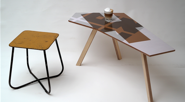 Kidney Table Coffee Colored Elements | Neunoy