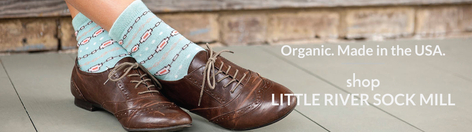Shop organic cotton socks from Little River Sock Mill, made in the USA.