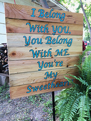 DIY wedding welcome sign
