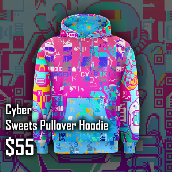 Cyber Sweets Pullover Hoodie