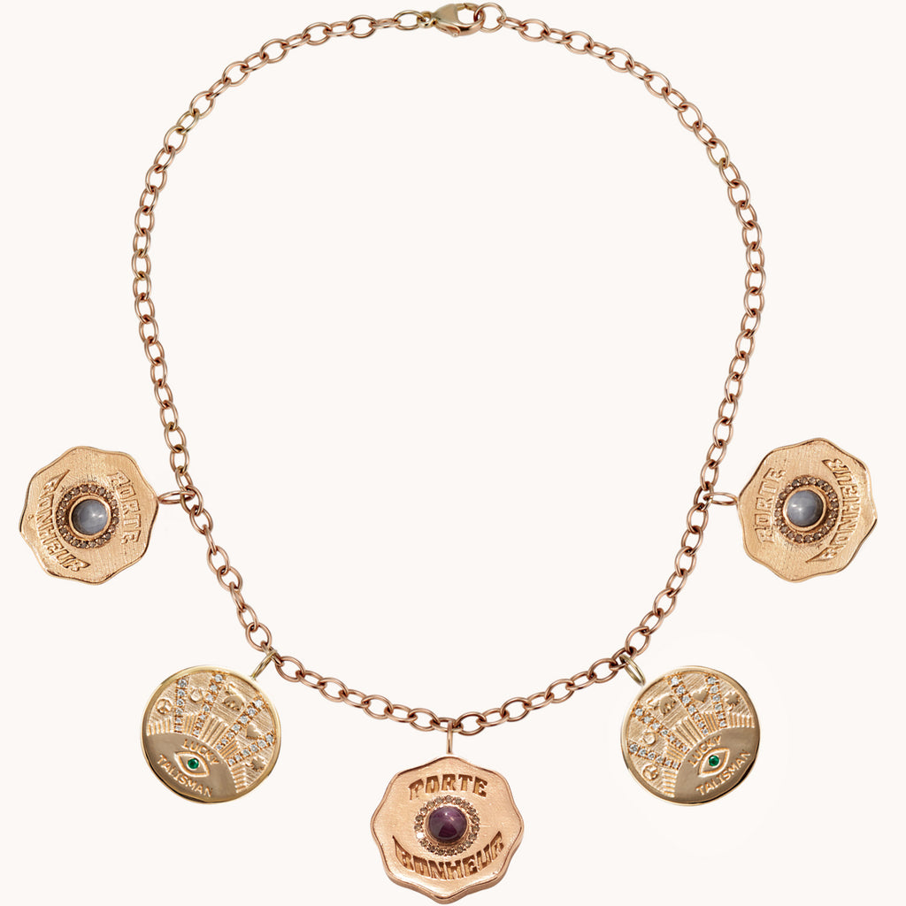 La Trouvaille 5 Coin Necklace, Necklaces - Marlo Laz
