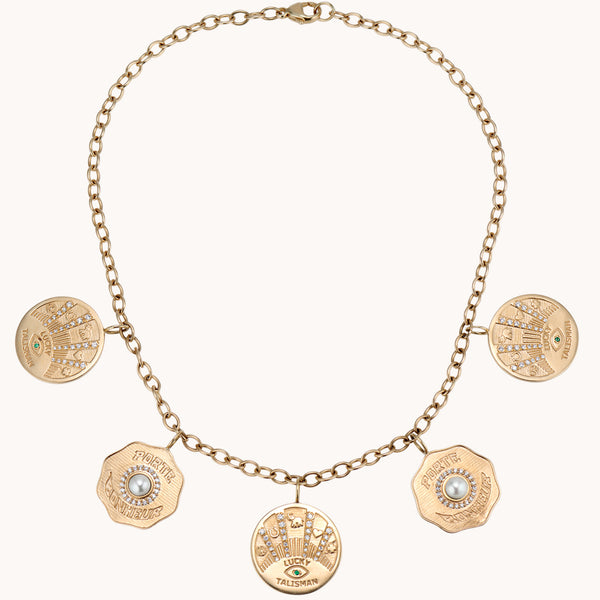 5 Coin Necklace, Necklaces - Marlo Laz