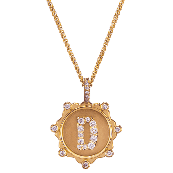 Pavé Alphabet Amulet Necklace