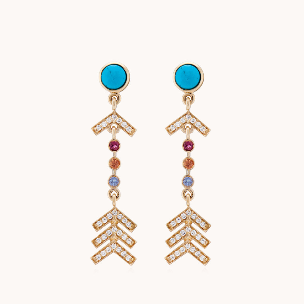 Short Arrow Earrings Pavé Diamonds, Earrings - Marlo Laz