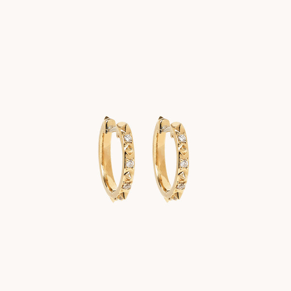 Guiding Light Micro Hoops, Earrings - Marlo Laz
