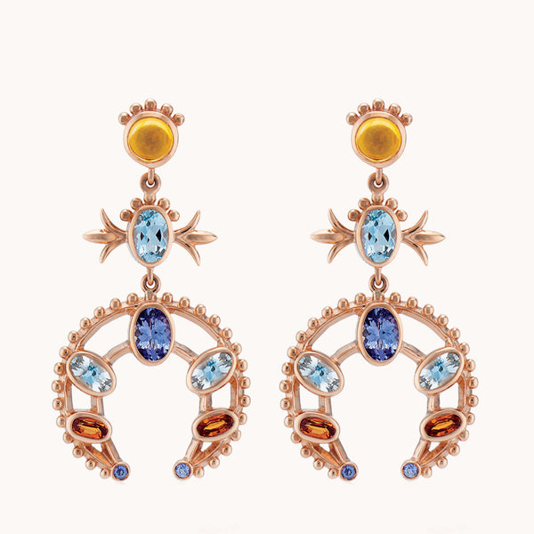 Squash Blossom Earrings, Earrings - Marlo Laz