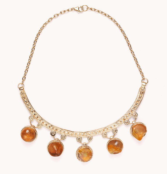 Mexican fire opal collar | Marlo Laz Fine Jewelry