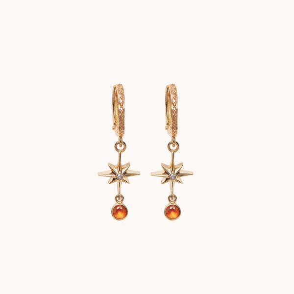 Lucky Star Hoop Earrings, Earrings - Marlo Laz
