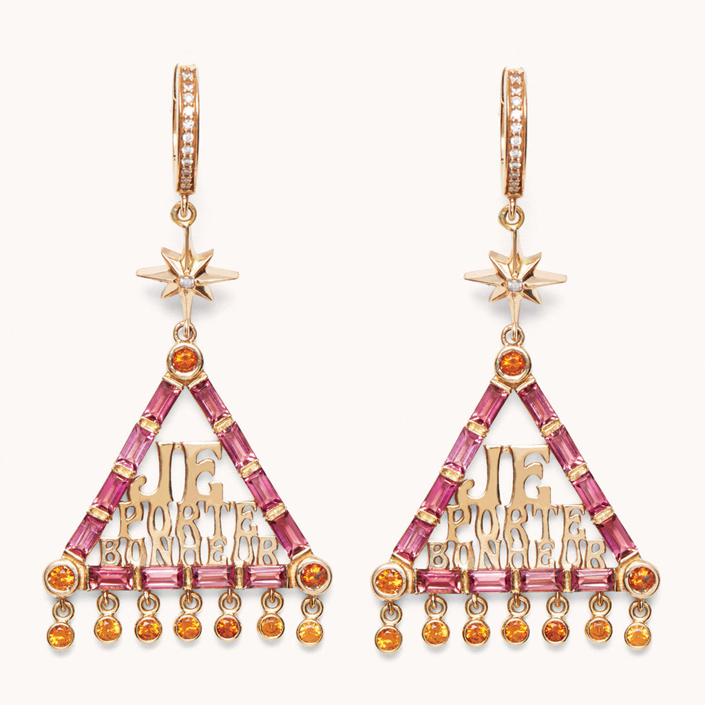 Je Porte Bonheur Lucky Charm Earrings, Earrings - Marlo Laz