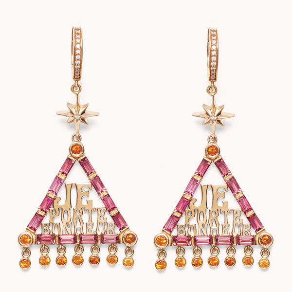 Marlo Laz Fine Jewelry Je Porte Bonheur Earrings