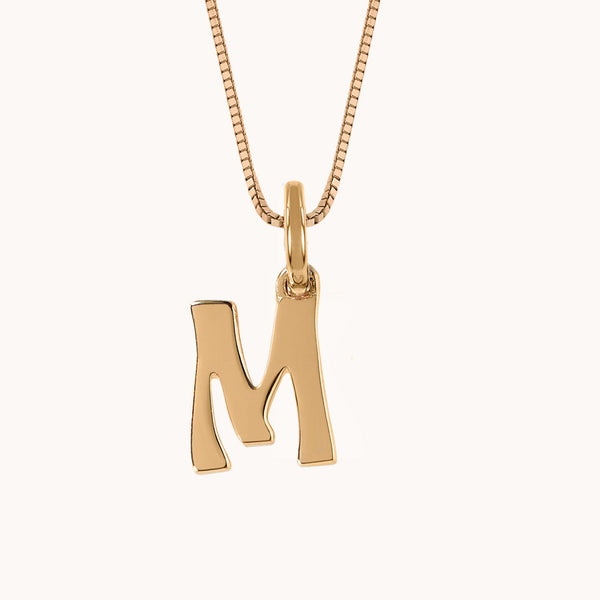 Letter Charm Necklace, Necklaces - Marlo Laz