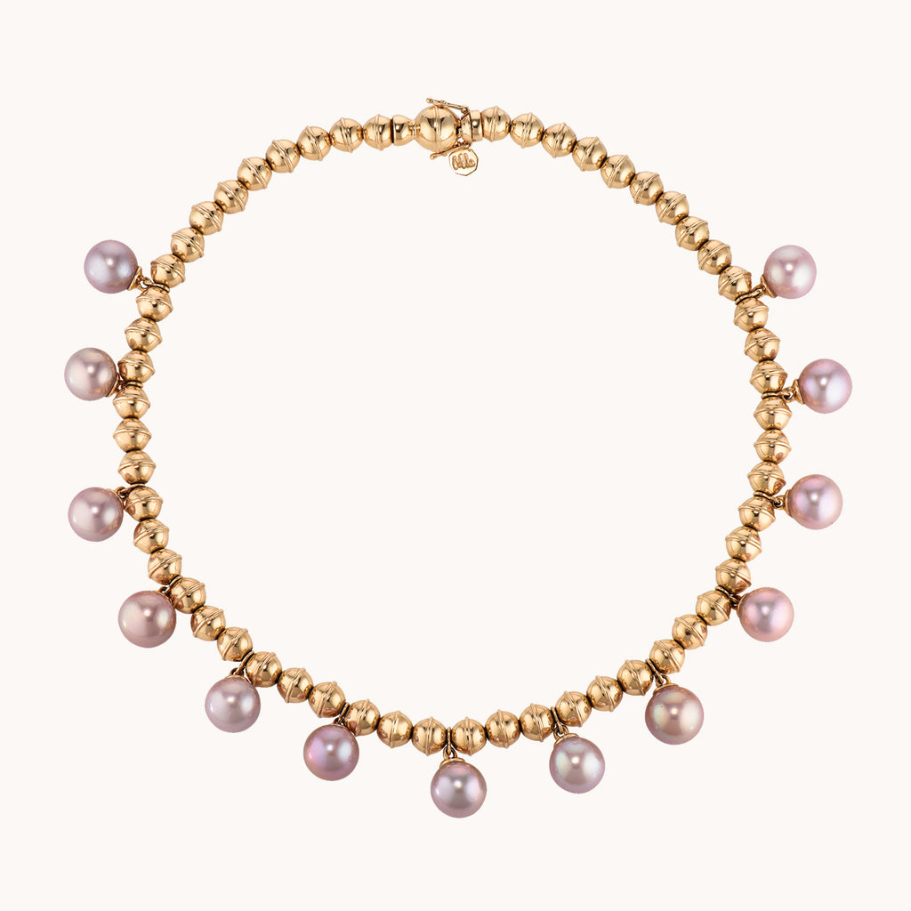 Squash Blossom Bead Collar w/ Pearls, Necklaces - Marlo Laz
