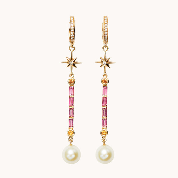 Pearl Wand Earrings, Earrings - Marlo Laz