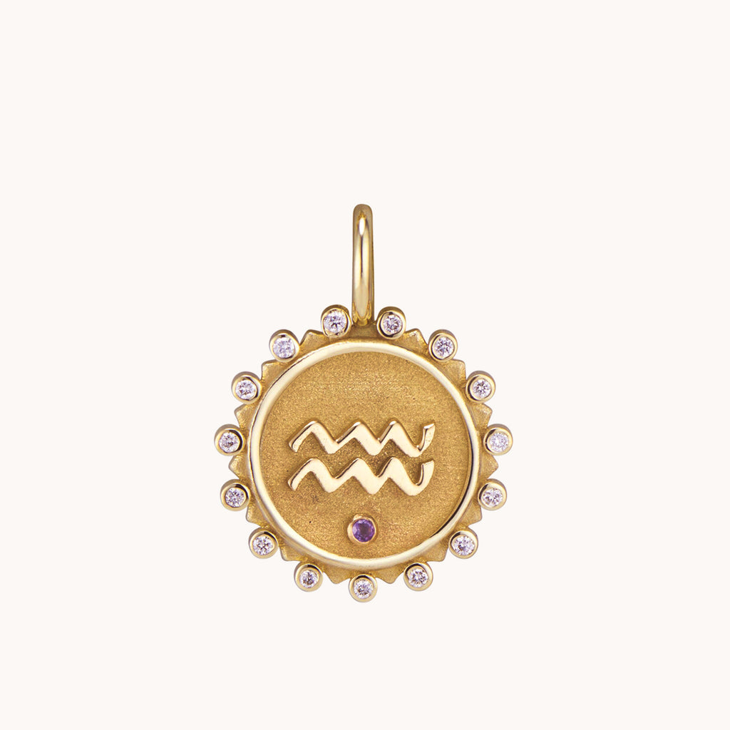 Aquarius Pendant Necklace, Necklaces - Marlo Laz