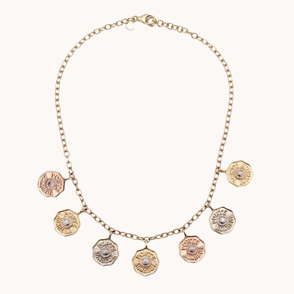 Mini Porte Bonheur Coin Necklace, Necklaces - Marlo Laz