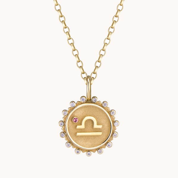 Libra Pendant Necklace, Necklaces - Marlo Laz