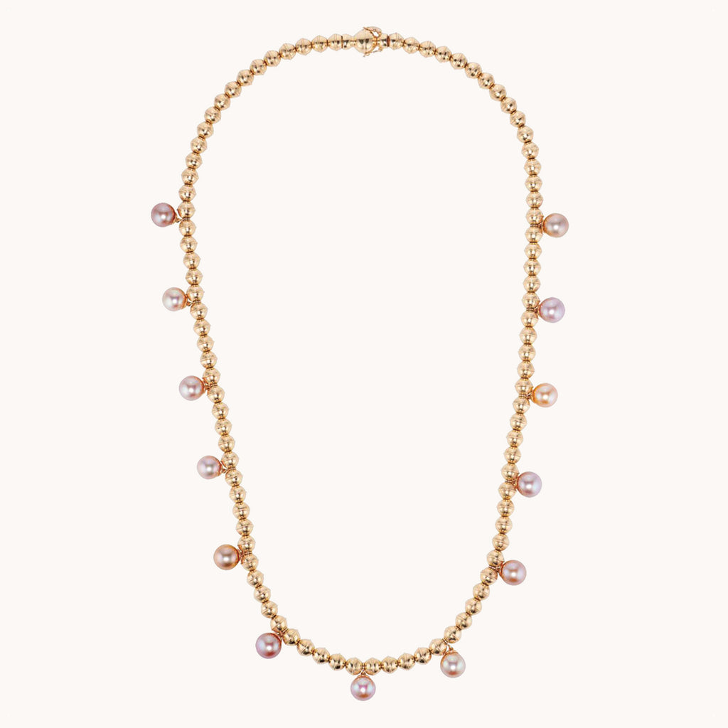 Squash Blossom Bead w/ Pearls, Necklaces - Marlo Laz